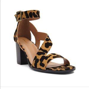 Qupid Cheetah Print Heels